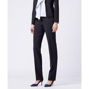 Boss Hugo Boss blue Tamea 1 straight leg trousers